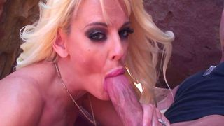 Beach patrol inspecting some big tits