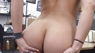 Sweet busty babe sucking huge cock