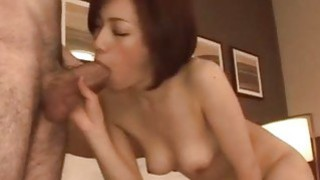 Nene Iino can wait to swallow after harsh porn moments