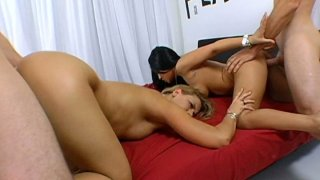Outstanding foursome with Jenaveve Jolie and Brianna Beach
