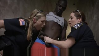 Dick Crazed Bisexual Milf Policewomen Take Advantage Of Arrested BBC