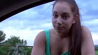 Horny Jenny gets fucked on the roadside