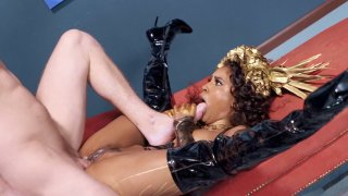 Demi Sutra gets her pussy drilled by the hard cock
