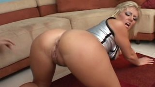 Booty MILF Velicity Von hardcore drilled in all her fucking holes with extra big dick