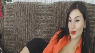Very Sexy Office Girl Strips and Rides a Huge Dild