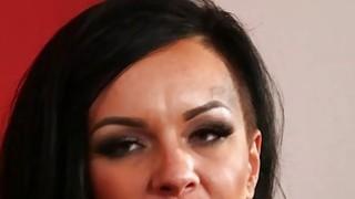 Big titty tattooed bitch seduces her horny stepbro