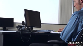 Jade Nile getting banged by her boss on his office desk