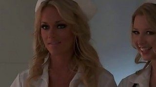 Very naughty nurses, Paige Ashley and Sunny Lane, both hot blondes with big