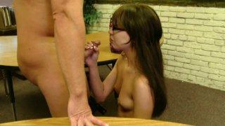 Dirty secretary Kelly Klass pampers her strict boss
