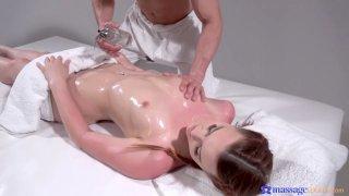 Sexy babe enjoys a kinky massage
