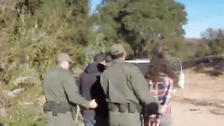 Young Sluts In Hot Outdoor Threesome With Border Patrol Agent