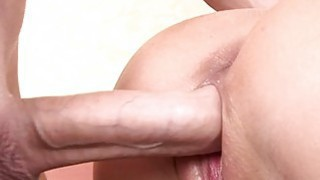 Pleasing chick charms guy with her anal riding