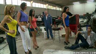 Surprise visit of Rachel Starr, Diamond Kitty, Alexis Fawx and Anastasia Morna