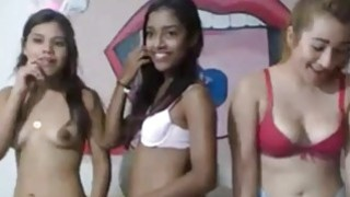 Three Hot Teens Shows Off