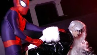Spidey continues to bang The Black Cats pussy
